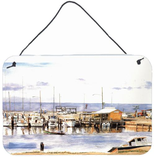 Pass Bait Shop Indoor Aluminium Metal Wall or Door Hanging Prints by Caroline's Treasures
