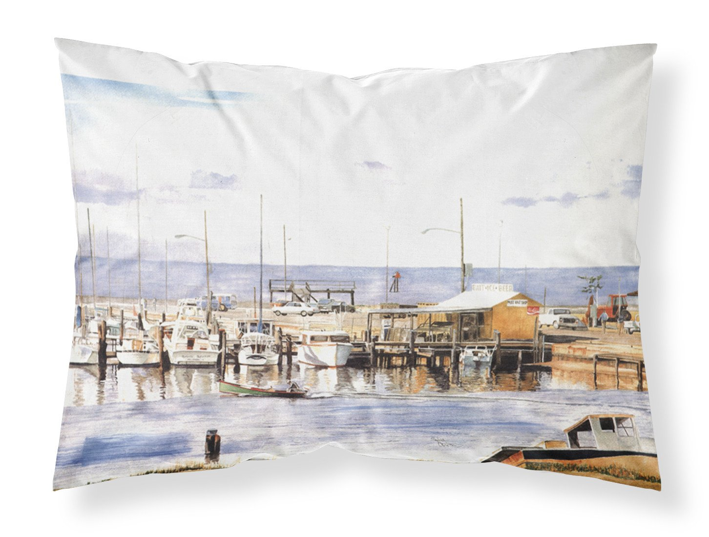 Pass Bait Shop Moisture wicking Fabric standard pillowcase by Caroline's Treasures