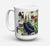 Buy this Eggplant and New Orleans Beers  Dishwasher Safe Microwavable Ceramic Coffee Mug 15 ounce 1007CM15