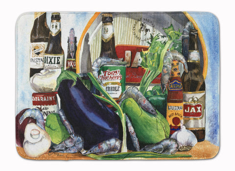 Buy this Eggplant and New Orleans Beers  Machine Washable Memory Foam Mat 1007RUG