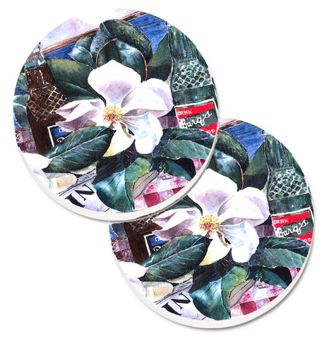 Buy this Barq's and Magnolia Set of 2 Cup Holder Car Coasters 1009CARC