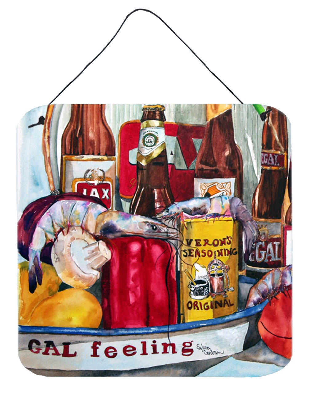 Buy this Veron's and New Orleans Beers Aluminium Metal Wall or Door Hanging Prints