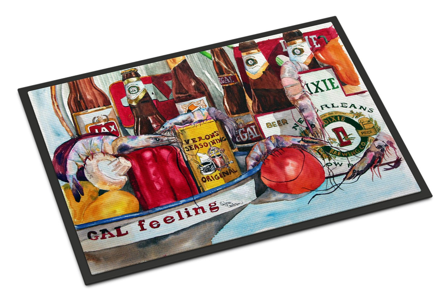 Buy this Veron's and New Orleans Beers Indoor or Outdoor Mat 24x36 Doormat