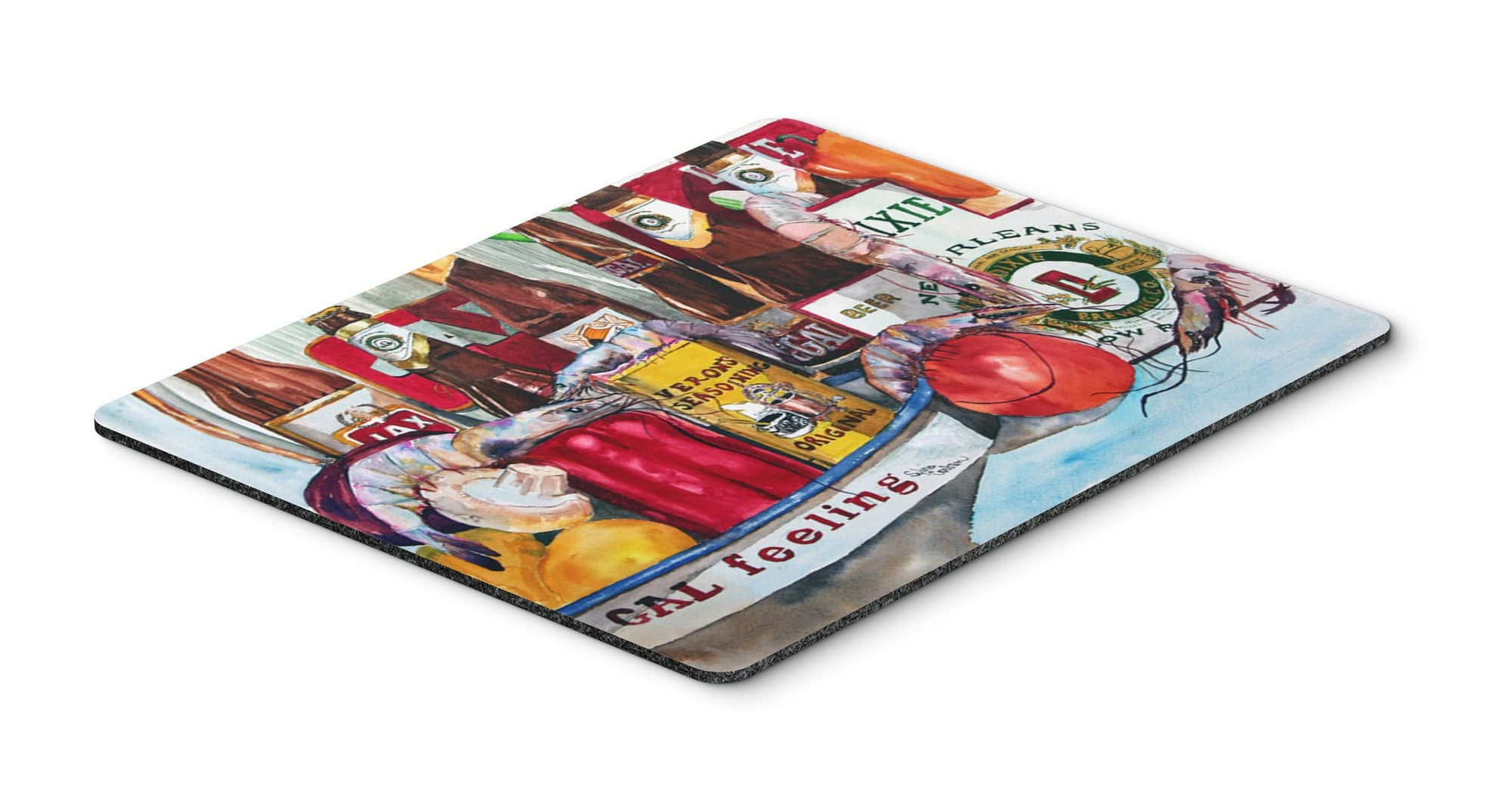 Buy this Veron's and New Orleans Beers Mouse pad, hot pad, or trivet