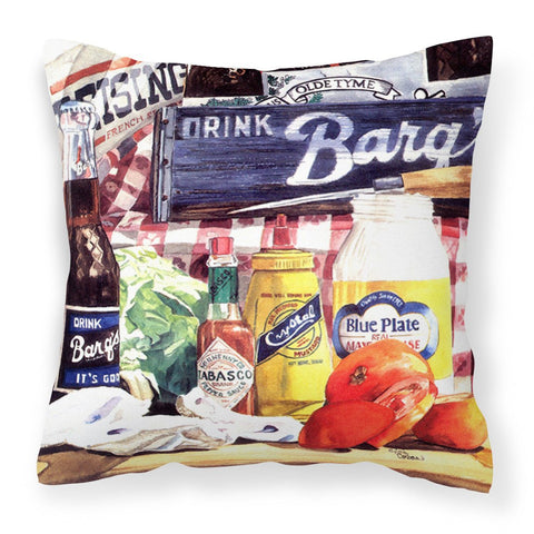 Blue Plate Mayonaise, Barq's a tomato sandwich Canvas Fabric Decorative Pillow