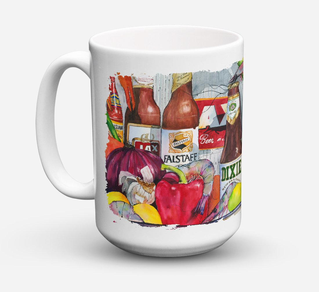 Buy this New Orleans Beers and Spices Dishwasher Safe Microwavable Ceramic Coffee Mug 15 ounce 1017CM15
