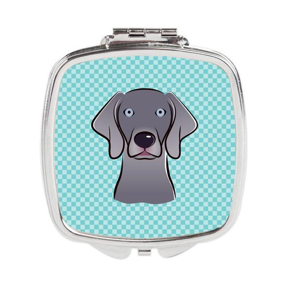 Buy this Checkerboard Blue Weimaraner Compact Mirror BB1169SCM