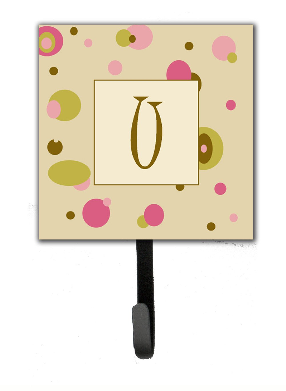 Buy this Letter U Initial Monogram - Tan Dots Leash Holder or Key Hook