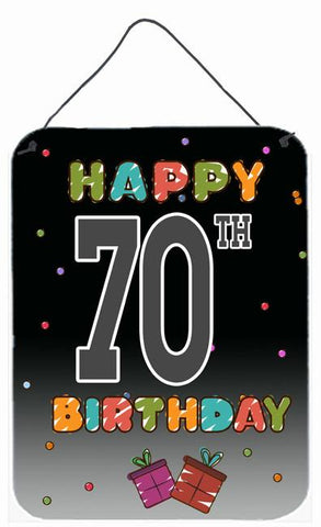 Buy this Happy 70th Birthday Wall or Door Hanging Prints CJ1126DS1216