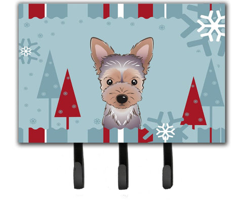 Buy this Winter Holiday Yorkie Puppy Leash or Key Holder BB1728TH68