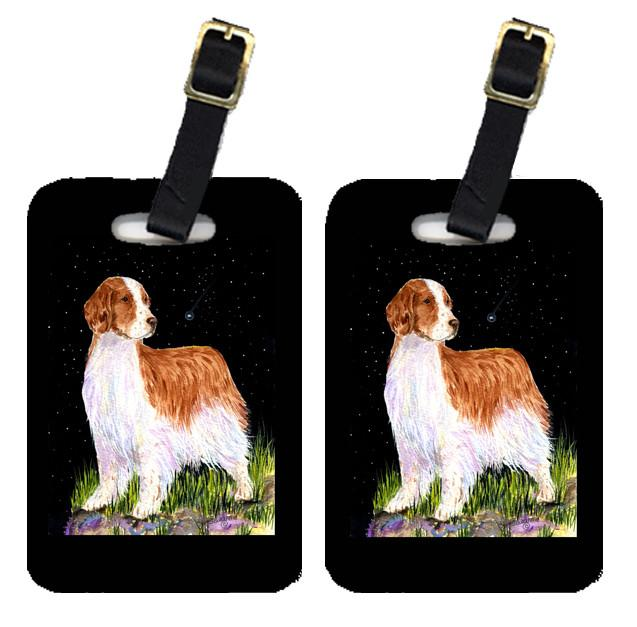 Buy this Starry Night Welsh Springer Spaniel Luggage Tags Pair of 2
