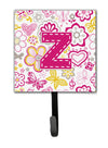 Letter Z Flowers and Butterflies Pink Leash or Key Holder CJ2005-ZSH4 by Caroline's Treasures