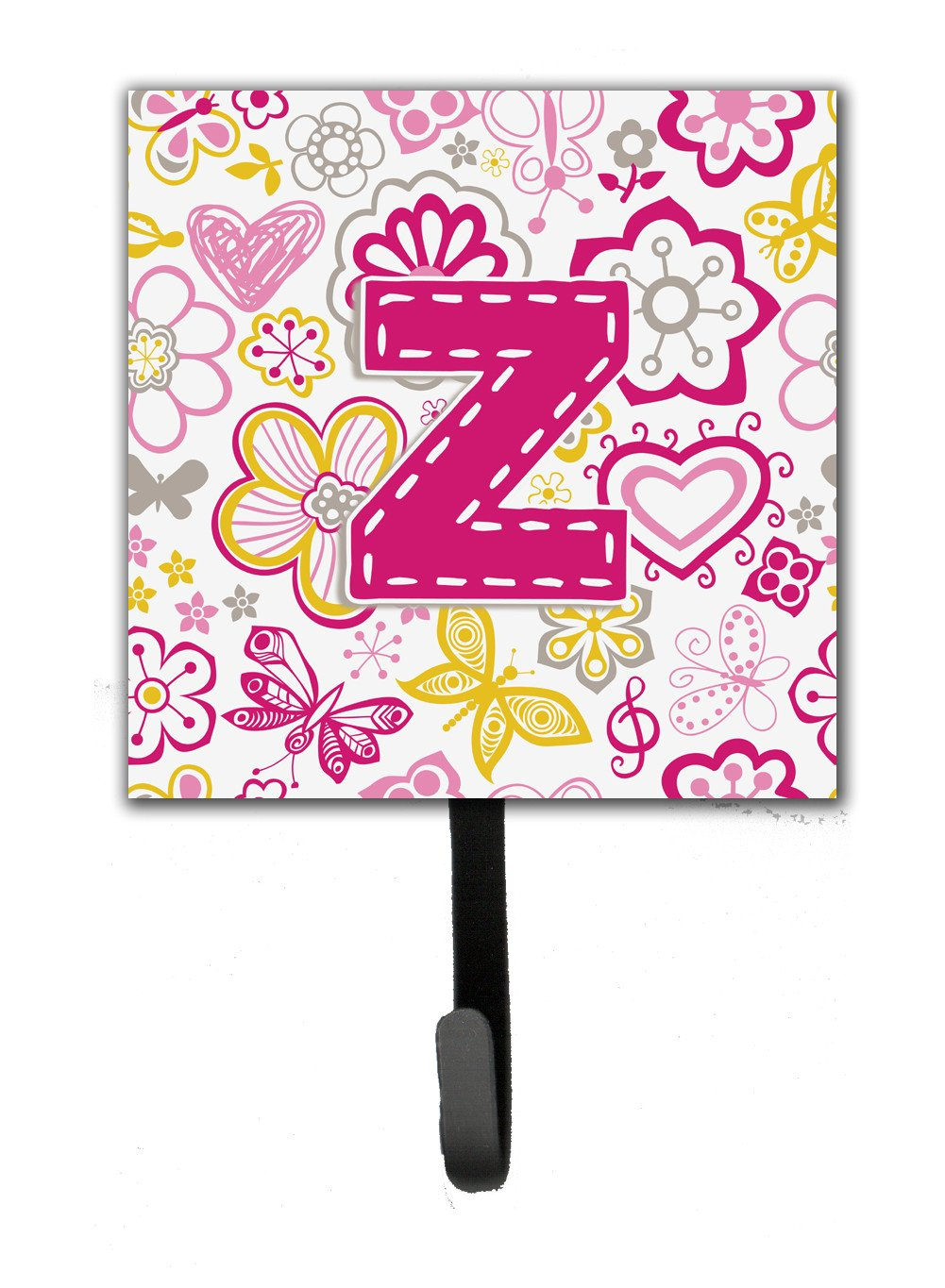 Buy this Letter Z Flowers and Butterflies Pink Leash or Key Holder CJ2005-ZSH4
