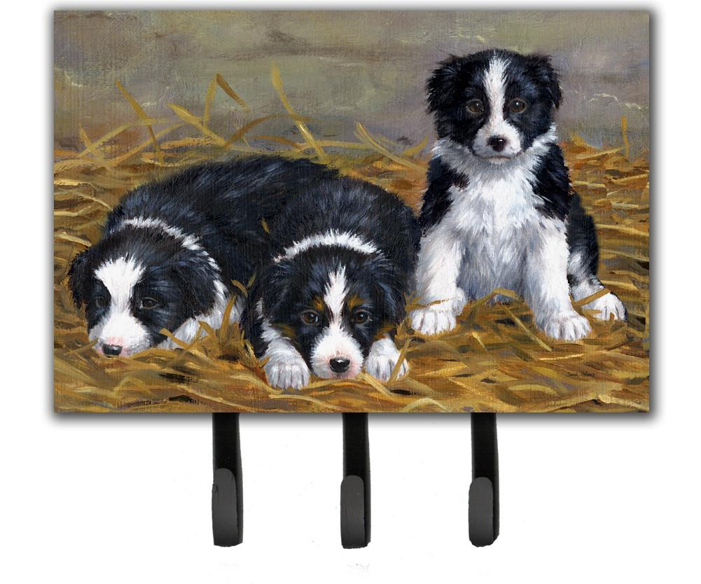 Buy this Border Collie Puppies Leash or Key Holder ASA2196TH68