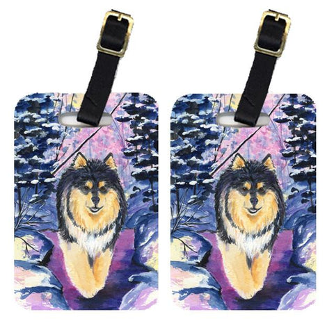 Buy this Pair of 2 Finnish Lapphund Luggage Tags