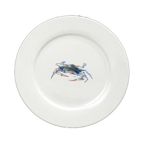 Buy this Blue Crab Blowing Bubbles Round Ceramic White Salad Plate 8655-DPW
