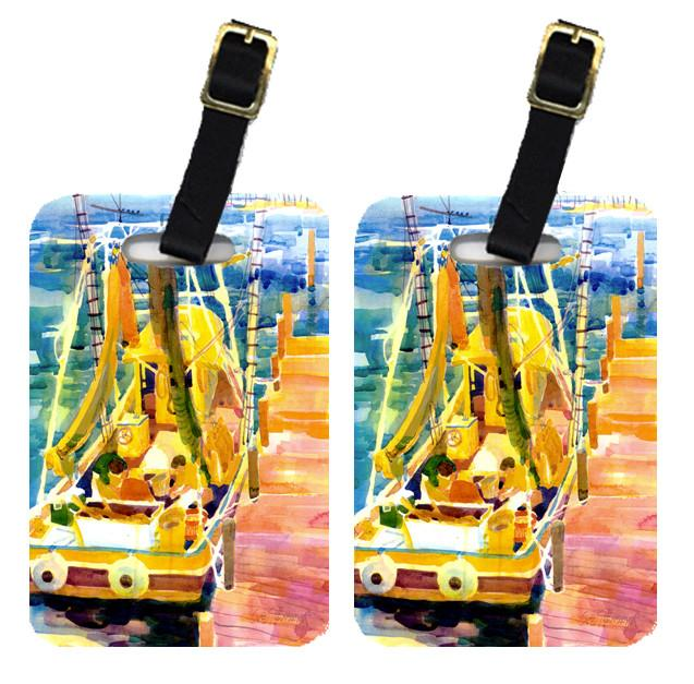 Pair of 2 Shrimp Boats Luggage Tags by Caroline's Treasures