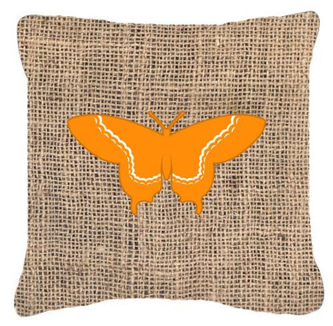 Buy this Butterfly Burlap and Orange   Canvas Fabric Decorative Pillow BB1030