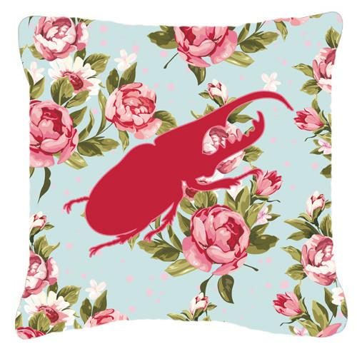 Beetle Shabby Chic Blue Roses   Canvas Fabric Decorative Pillow BB1056 - the-store.com
