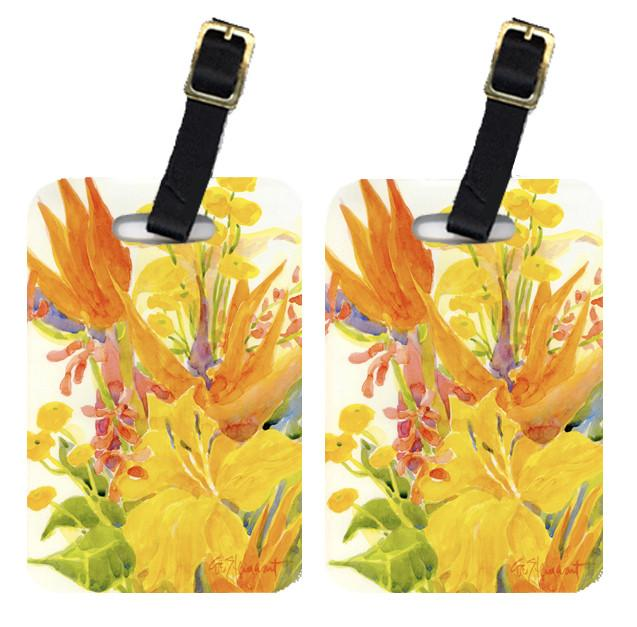Buy this Pair of 2 Flower - Bird of Paradise and Hibiscus Luggage Tags