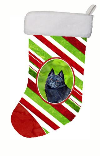 Buy this Schipperke Candy Cane Holiday Christmas Christmas Stocking LH9249