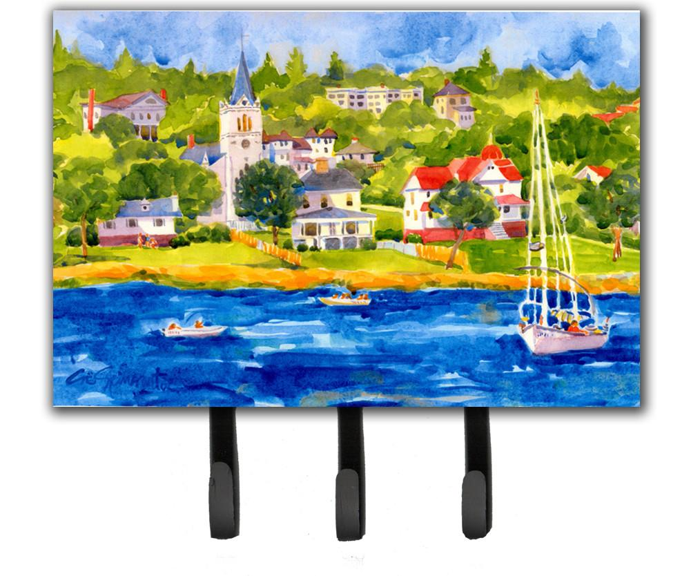Buy this Harbour Scene with Sailboat  Leash Holder or Key Hook