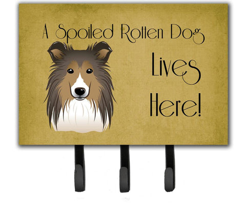 Buy this Sheltie Spoiled Dog Lives Here Leash or Key Holder BB1490TH68