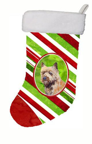 Buy this Cairn Terrier Candy Cane Holiday Christmas Christmas Stocking LH9230