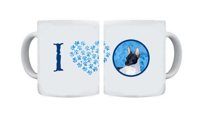 Rat Terrier  Dishwasher Safe Microwavable Ceramic Coffee Mug 15 ounce SS4756 by Caroline's Treasures