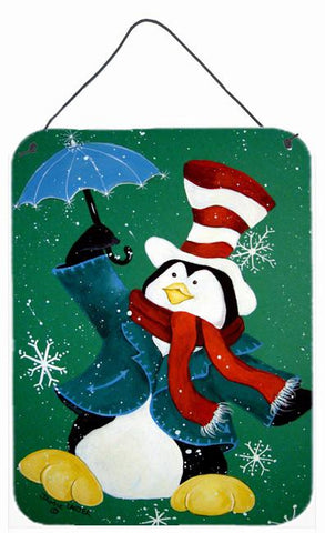 Buy this Just Dropping In To Say Hello Christmas Penguin  Wall or Door Hanging Prints PJC1015DS1216