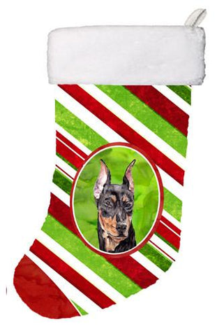 Buy this German Pinscher Candy Cane Christmas Christmas Stocking SC9812-CS