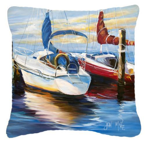 Symmetry Sailboats Canvas Fabric Decorative Pillow JMK1242PW1414 by Caroline's Treasures