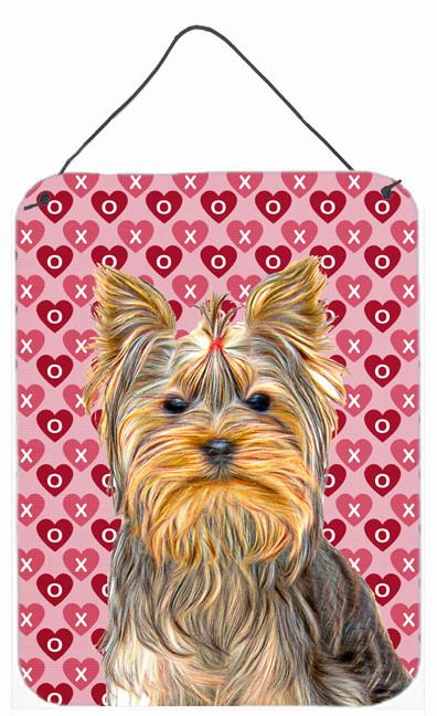 Hearts Love and Valentine's Day Yorkie / Yorkshire Terrier Wall or Door Hanging Prints KJ1191DS1216 by Caroline's Treasures