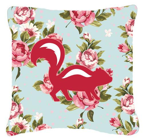 Buy this Skunk Shabby Chic Blue Roses   Canvas Fabric Decorative Pillow BB1125