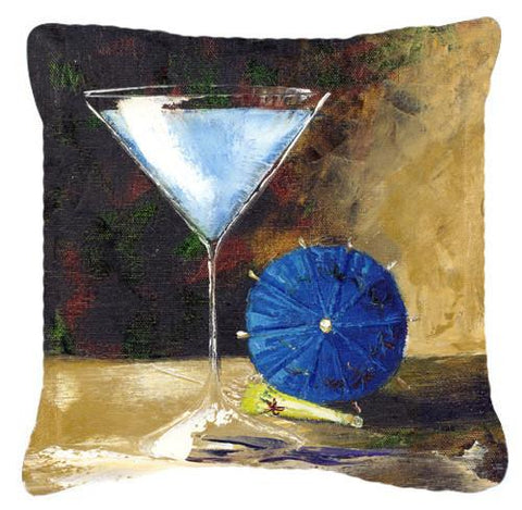 Buy this Blue Martini by Malenda Trick Canvas Decorative Pillow TMTR0031PW1414