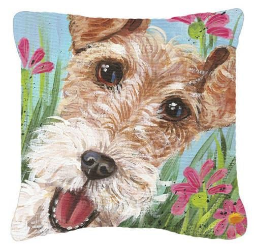 Buy this Fox Terrier by Judith Yates Canvas Decorative Pillow JYJ0178PW1414