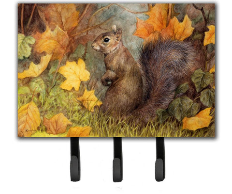 Buy this Grey Squirrel in Fall Leaves Leash or Key Holder BDBA0097TH68