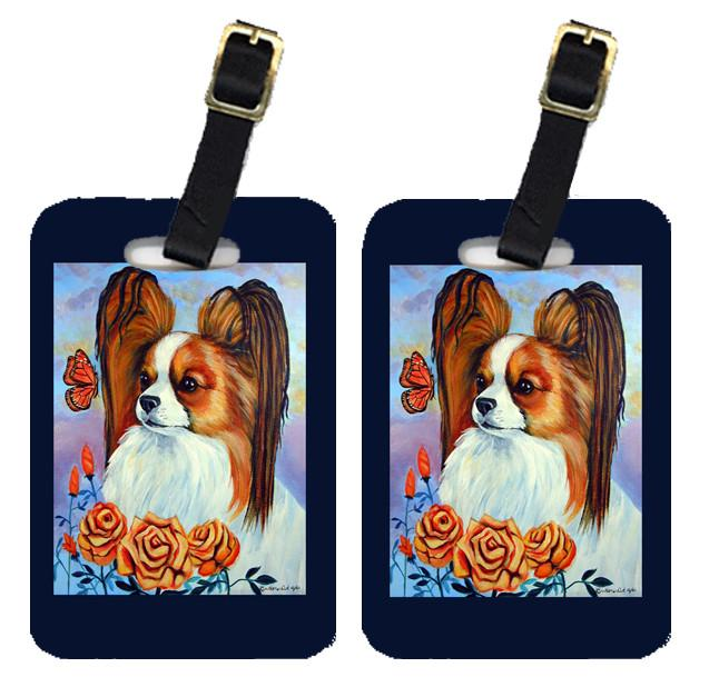 Buy this Pair of 2 Papillon in the roses Luggage Tags