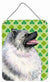 Keeshond St. Patrick's Day Shamrock Portrait Wall or Door Hanging Prints by Caroline's Treasures