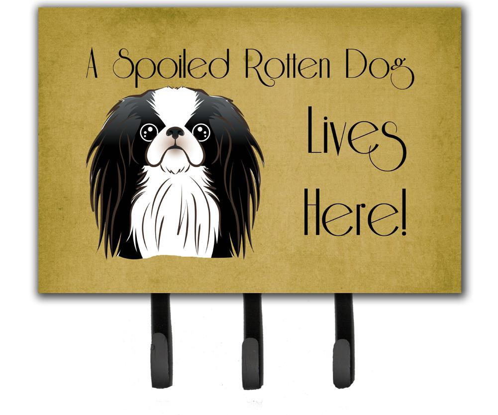 Japanese Chin Spoiled Dog Lives Here Leash or Key Holder BB1478TH68 by Caroline's Treasures