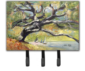 Buy this Oak Tree on the Bay with Sailboats Leash or Key Holder JMK1132TH68