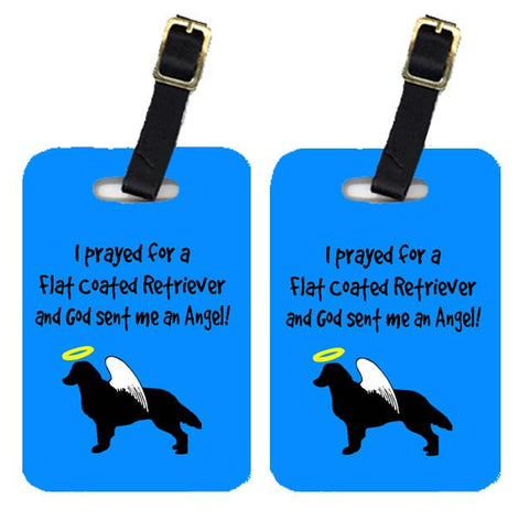 Buy this Pair of 2 Flat Coated Retriever Luggage Tags