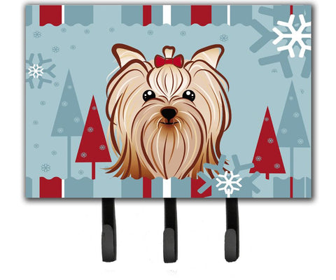 Buy this Winter Holiday Yorkie Yorkshire Terrier Leash or Key Holder BB1700TH68