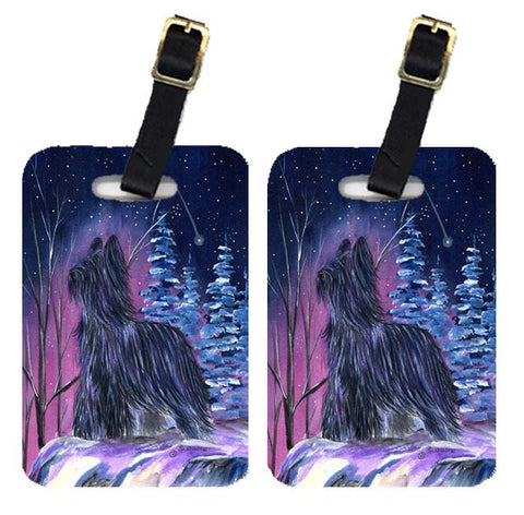 Buy this Starry Night Briard Luggage Tags Pair of 2