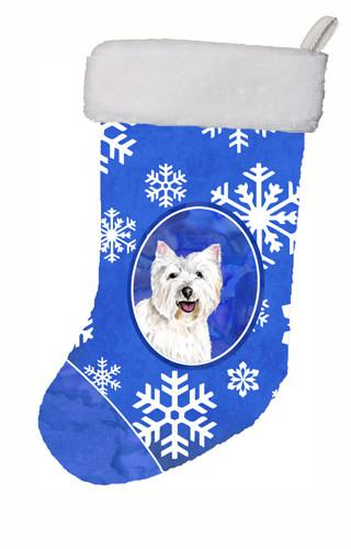 Westie Winter Snowflakes Christmas Stocking SC9370 by Caroline's Treasures