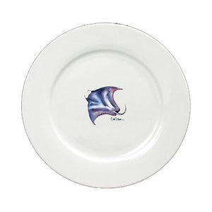 Buy this Stingray Round Ceramic White Salad Plate 8353-DPW