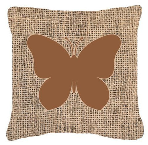 Buy this Butterfly Burlap and Brown   Canvas Fabric Decorative Pillow BB1047