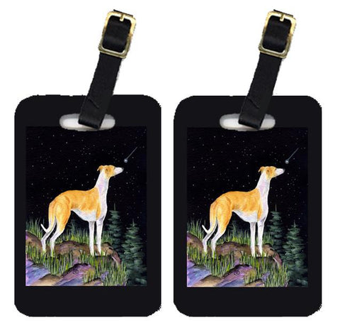 Buy this Starry Night Whippet Luggage Tags Pair of 2