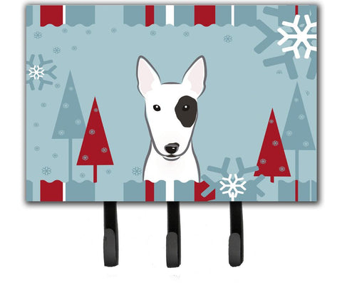 Buy this Winter Holiday Bull Terrier Leash or Key Holder BB1705TH68