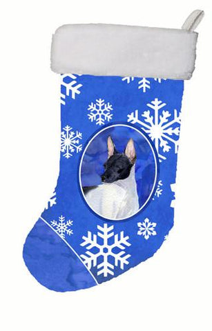 Buy this Rat Terrier Winter Snowflakes Christmas Stocking SS4618